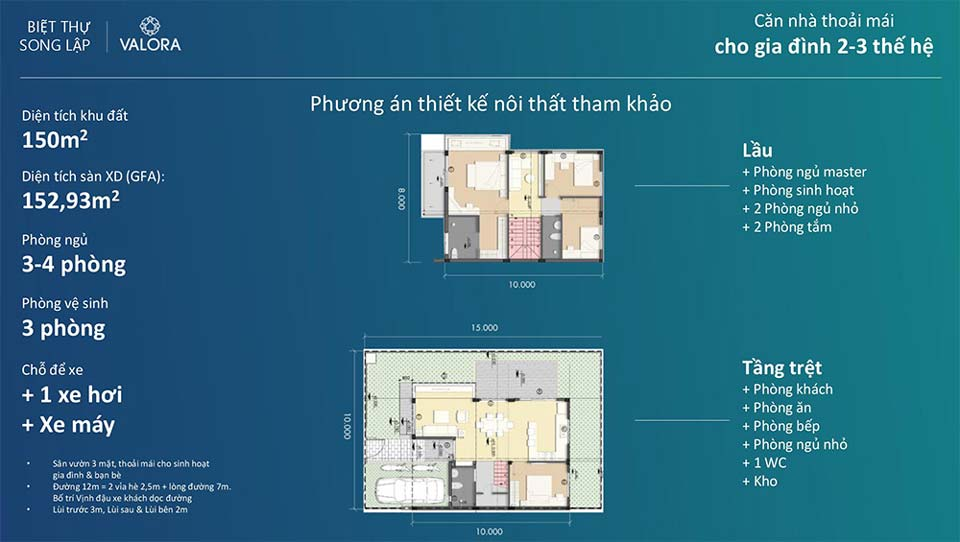 Thiết kế biệt thự song lập Waterpoint Long An
